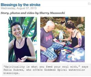 watercolor blessings in the news Goddess Spiral