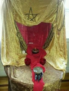Goddess Spiral Autumn altar