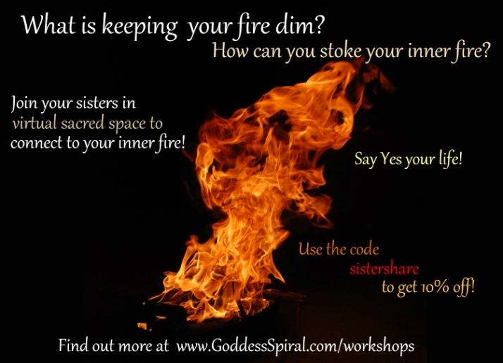 Connect to your inner fire Goddess Spiral