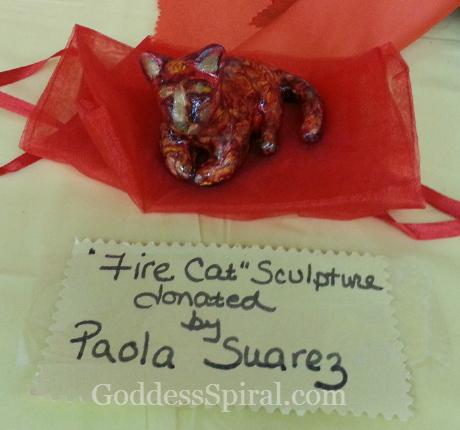 Fire Cat Sculpture Paola Suarez